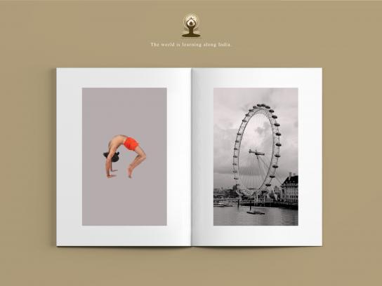 International Yoga Day Print Ad - Chakrasana