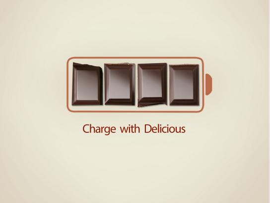 ThinkThin Print Ad - Charge with Delicious