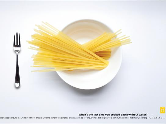 Charity: water Print Ad - Pasta