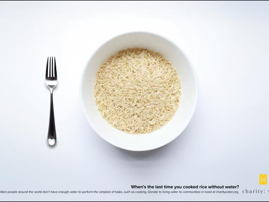 Charity: water Print Ad - Rice