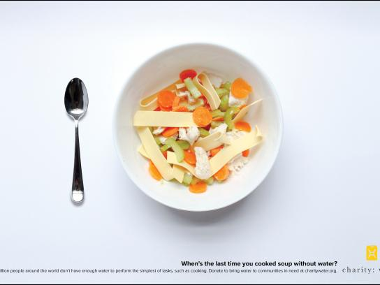 Charity: water Print Ad - Soup
