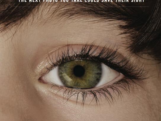 Childhood Eye Cancer Trust Outdoor Ad -  Eye, 2
