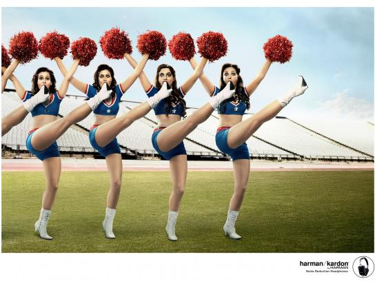 Harman Print Ad -  Cheerleaders