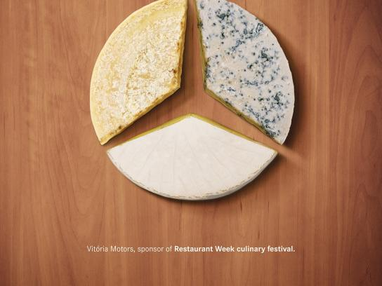 Mercedes Print Ad -  Cheese