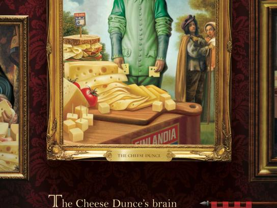 Finlandia Cheese Print Ad -  Where Cheese Reigns, Cheese Dunce