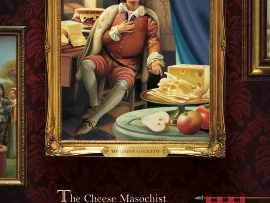 Finlandia Cheese Print Ad -  Where Cheese Reigns, Cheese Masochist