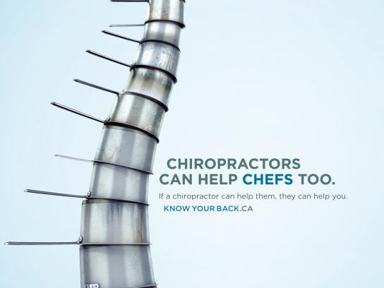 Council of the Nova Scotia College of Chiropractors Print Ad -  Chefs