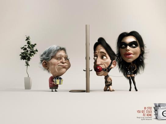 Chez Restaurant Print Ad -  Granny vs Sado