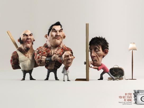 Chez Restaurant Print Ad -  Yakuza vs Man