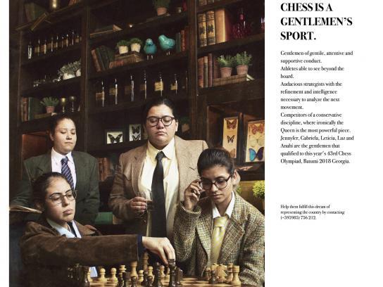 Equipo Olímpico Kuña Arandu Print Ad - Chess is a gentlemen's sport