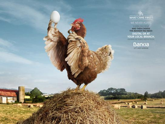 Bankia Print Ad - Chicken - Egg