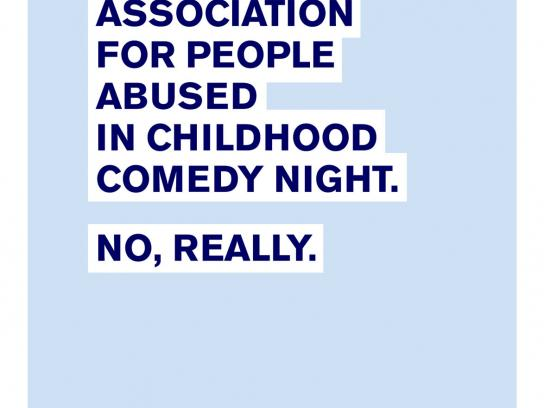 NAPAC Outdoor Ad -  Childhood Abuse Comedy Night