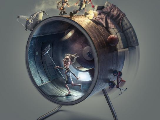 Morton Print Ad -  Hamster wheel - children