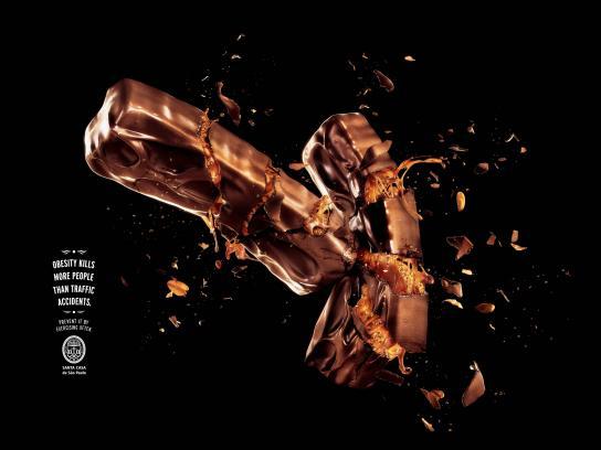 Santa Casa de Misericórdia Print Ad -  Chocolate