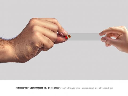 Cyber Crime Awareness Society Print Ad - Online Predators, Chocolate