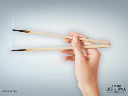 Jong Hwa Chinese Restaurant Print Ad -  Chopsticks