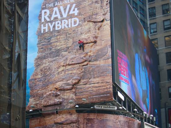 Toyota Outdoor Ad -  Times Square Live-Climb Event