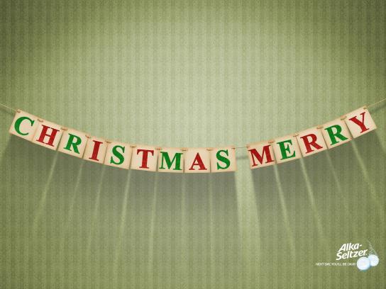 Alka Seltzer Print Ad -  Christmas