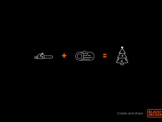Black and Decker Print Ad - Christmas tree