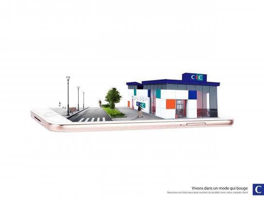 CIC Bank Print Ad - Services Bancaire Online
