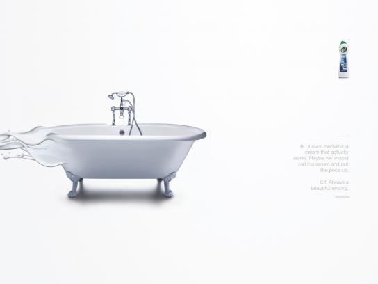 Cif Print Ad -  Bath