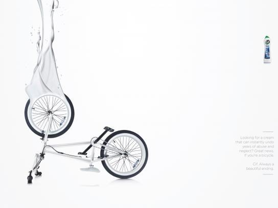 Cif Print Ad -  Bike