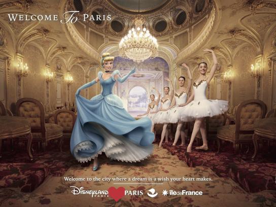 Disneyland Paris Print Ad - Cinderella