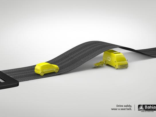 Governo da Bahia Print Ad -  Seat belt, 1