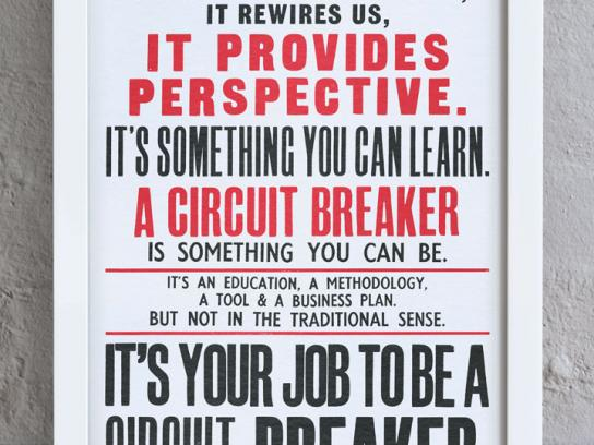Circus Festival Outdoor Ad -  The Provocative Philosophy of Circuit Breaking, 2