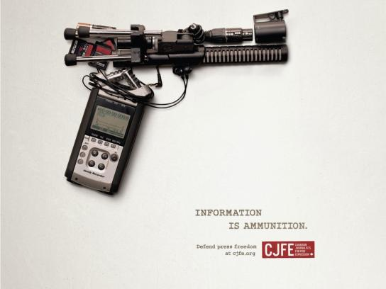 Canadian Journalists for Free Expression Print Ad -  Defend press freedom, 1