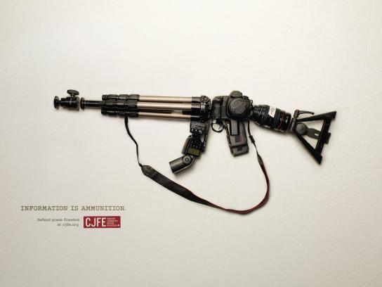Canadian Journalists for Free Expression Print Ad -  Defend press freedom, 2