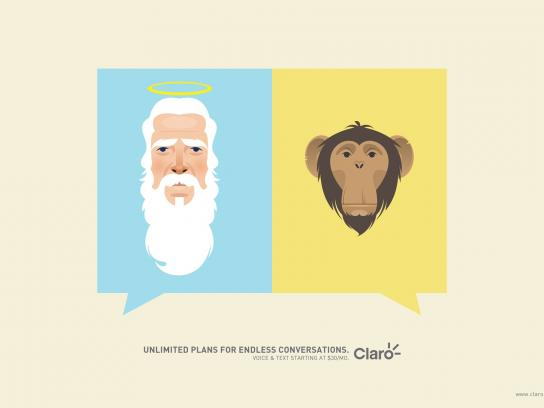Claro Print Ad -  God&Ape
