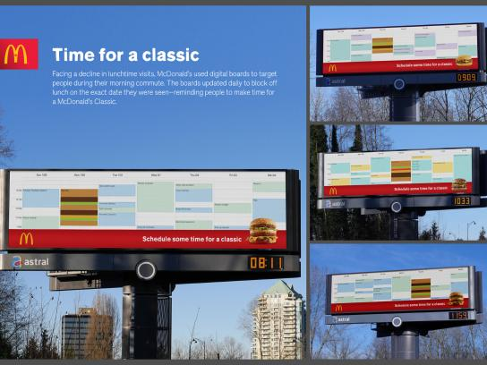 McDonald's Outdoor Ad - Time for a classic