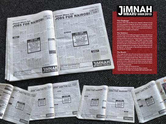 Jimnah Mbaru Print Ad -  Classifieds