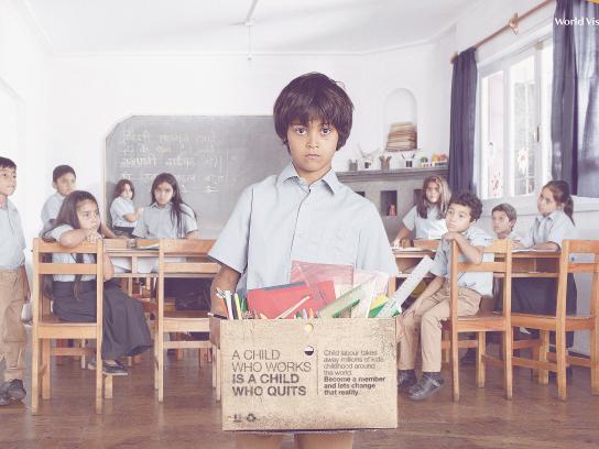 World Vision Print Ad - Classroom