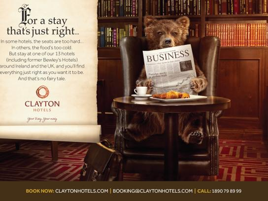 Clayton Hotels Print Ad -  No fairy tale, 2
