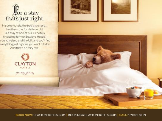 Clayton Hotels Print Ad -  No fairy tale, 1