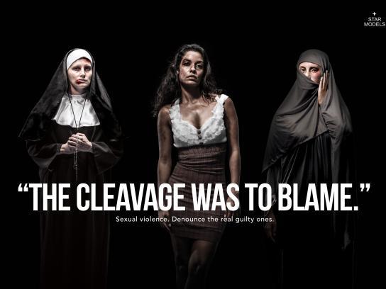 Star Models Print Ad -  Cleavage