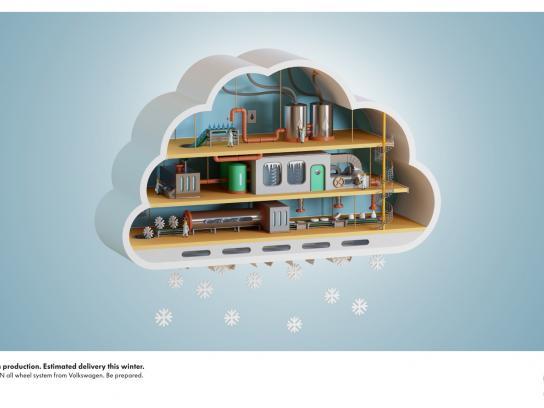 Volkswagen Print Ad -  Cloud