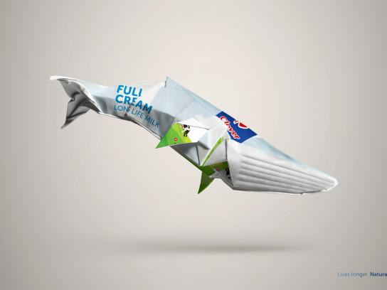 Clover Long Life Milk Print Ad - Whale