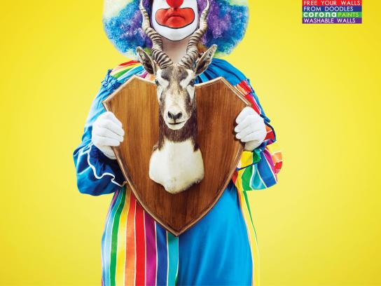 Corona Paints Print Ad -  Clown