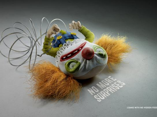 Home Credit Bank Print Ad -  Clown