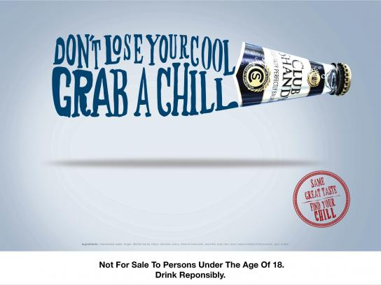 Club Shandy Print Ad -  Find your chill, 3