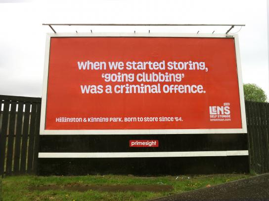 Len's Self Storage Outdoor Ad - Born To Store Since '64, 4