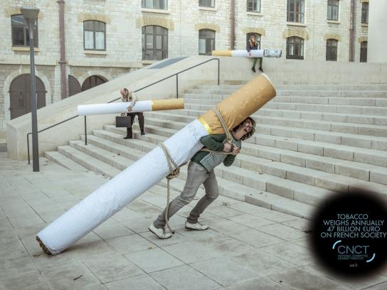CNCT Print Ad -  The weight of tobacco, 1