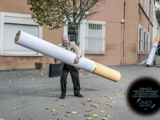 CNCT Print Ad -  The weight of tobacco, 3