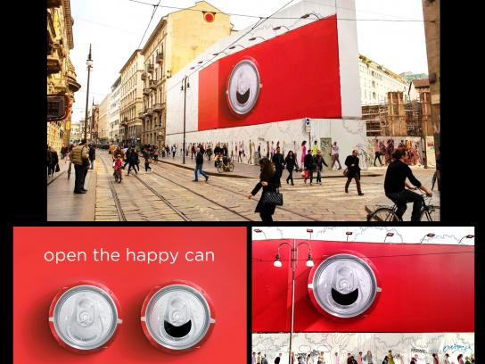 Coca-Cola Outdoor Ad -  Happy Can