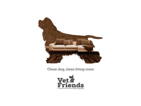 Vet Friends Print Ad - Cocker