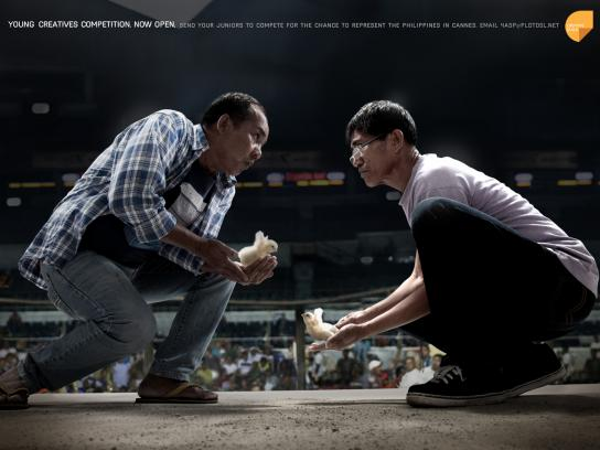 Creative Guild of the Philippines Print Ad -  Cockfight