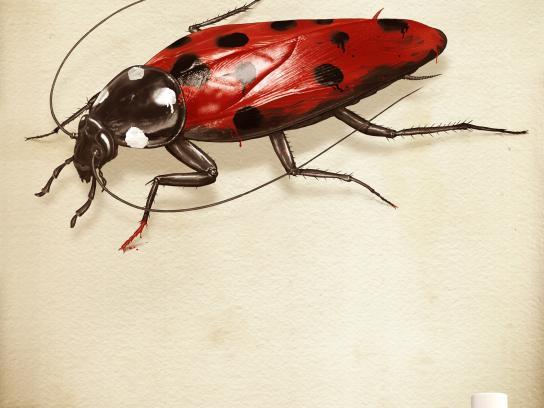 Spritex Print Ad -  Cockroach
